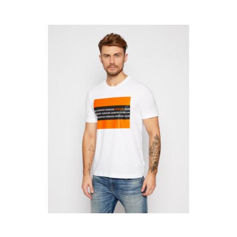 Calvin Klein Tričko Contrast Text Box Chest K10K106366 Biela Regular Fit