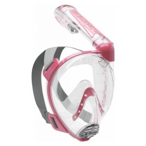 Cressi DUKE ružová - Celotvárová šnorchlovacia maska
