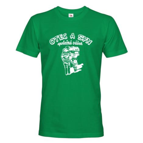 Tričko pre hasičov - Otec a syn, spoločná vášeň - ideálne tričko k narodeninám