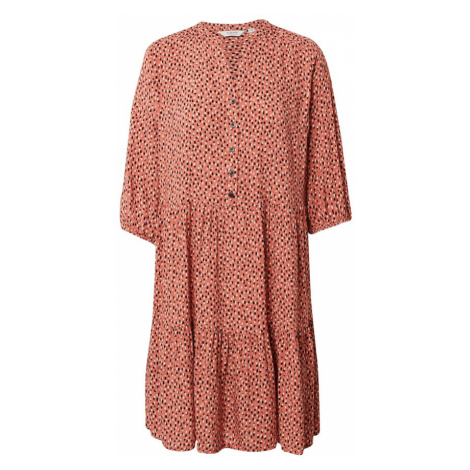 b.young Košeľové šaty 'JOELLA'  hrdzavo červená / čierna / biela