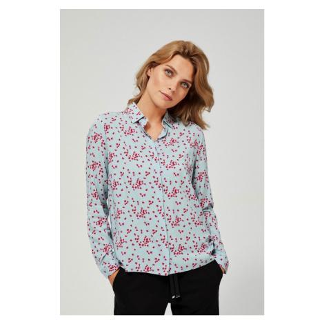 Moodo svetlomodrá košeľa so vzorom