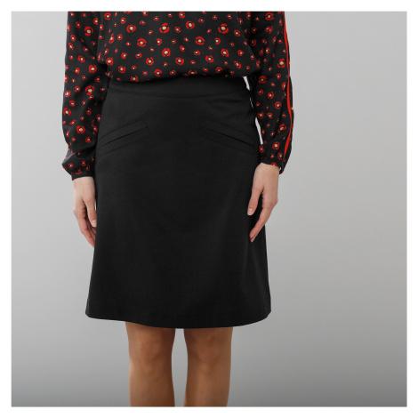Blancheporte Rozšírená sukňa z úpletu Milano čierna