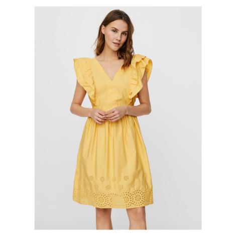 Lisa Šaty Vero Moda Žltá