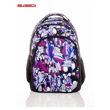 School backpack with toucans