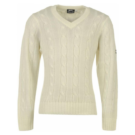 Slazenger Classic Cricket Sweater Mens White