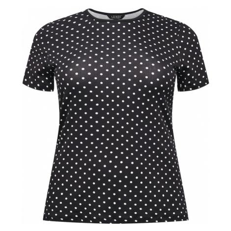Lauren Ralph Lauren Tričko  čierna / biela