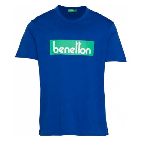 UNITED COLORS OF BENETTON Tričko  modrá / zelená / biela