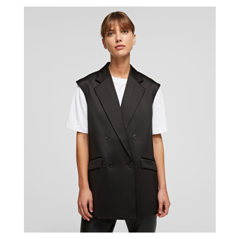 Vesta Karl Lagerfeld Tailored Gilet W/ Pleated Back