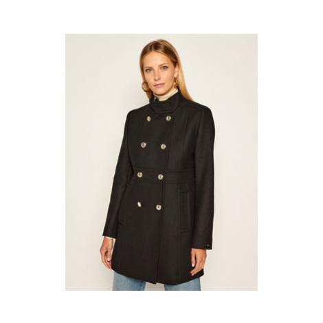TOMMY HILFIGER Prechodný kabát Blend Funnel WW0WW29139 Čierna Regular Fit