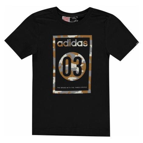 Chlapčenské tričko Adidas 03 Camo QT