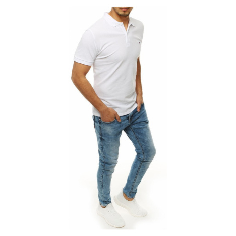 Men's white polo shirt PX0269 DStreet