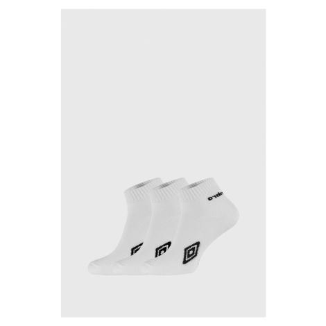 3 PACK členkových bielych ponožiek Umbro