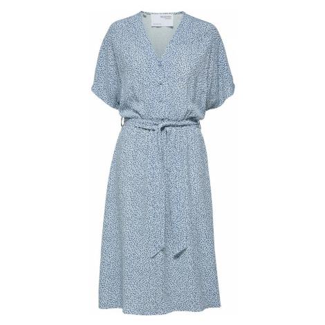 SELECTED FEMME Košeľové šaty 'SLFENNA'  svetlomodrá / modrá