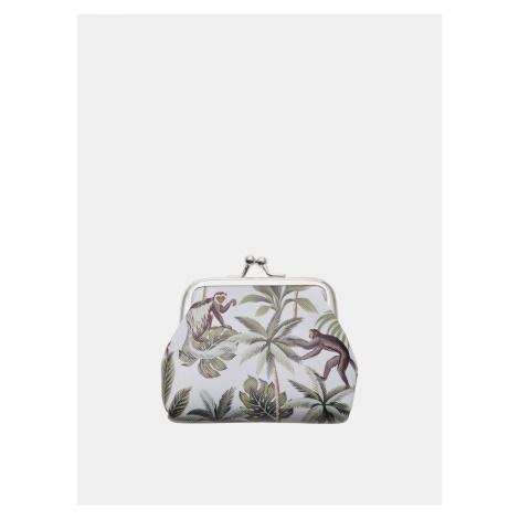 Biela vzorovaná malá peňaženka Clayre & Eef