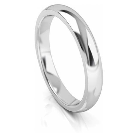 Art Diamond Pánsky snubný prsteň z bieleho zlata AUG314B mm