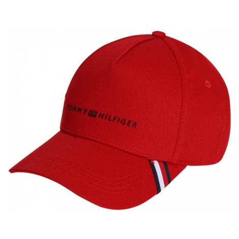 TOMMY HILFIGER Čiapka 'UPTOWN'  červená / tmavomodrá / biela