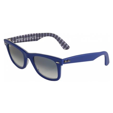 Ray-Ban Slnečné okuliare 'Wayfarer'  biela / modrá