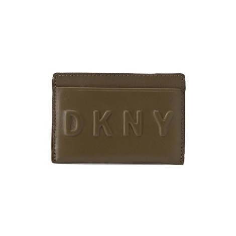 DKNY Puzdro na kreditné karty Slgs Debossed Logo R172440101 Zelená