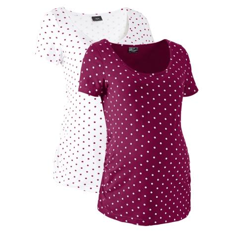 Materské tričko z bio bavlny, 2 ks bonprix