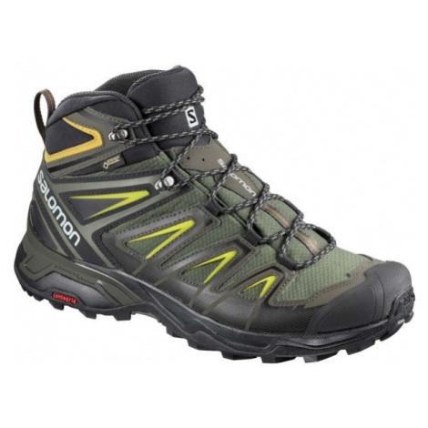 Salomon X ULTRA 3 MID GTX tmavo zelená - Pánska hikingová obuv