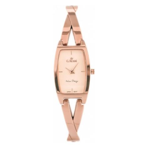 Elegantné ružovo-zlaté dámske hodinky G.Rossi 11924B2-4D2 Gino Rossi