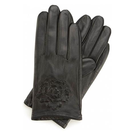 Elegantné čierna dámske rukavice Wittchen