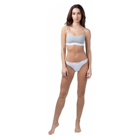 Calvin Klein 3PK THONG biela - Dámske nohavičky tango