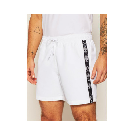 Calvin Klein Swimwear Plavecké šortky KM0KM00434 Biela Regular Fit