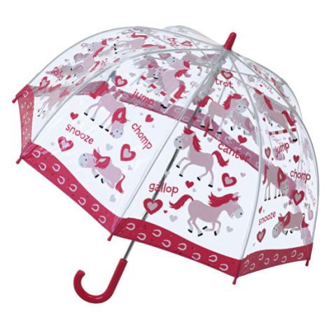 Blooming Brollies Detský priehľadný palicový dáždnik Pony Umbrella SBUPY