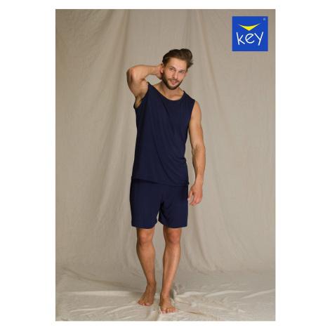 Pánske pyžamo Key Chill 001 Tmavě modrá