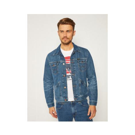 Wrangler Džínsová bunda Good Times W4MJZ419W Modrá Regular Fit