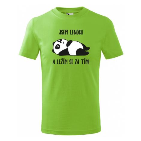 Detské tričko Som leňoch a ležím si za tým! - ideálny darček pre každého drobca