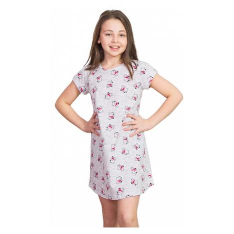 Dievčenská nočná košeľa Lucky Bear šedá Vienetta Secret