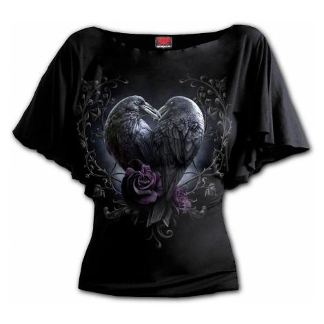 tričko SPIRAL RAVEN HEART Čierna
