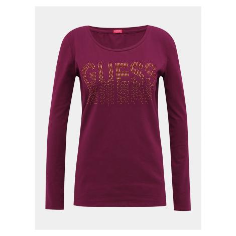 Vínové dámske tričko Guess