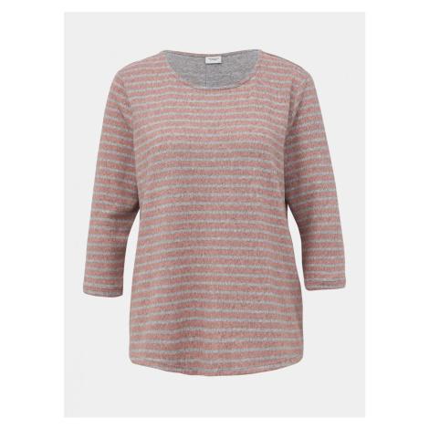 Jacqueline de Yong Elin's old-pink striped basic sweater