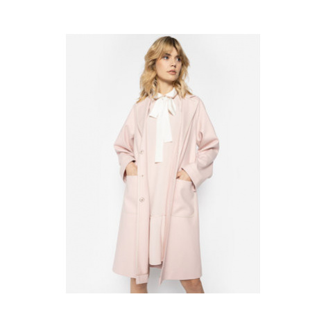 Red Valentino Vlnený kabát TR3CAB55 Ružová Regular Fit