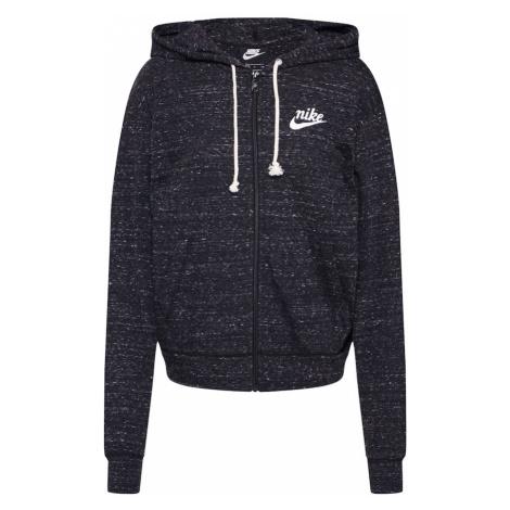 Nike Sportswear Tepláková bunda  čierna melírovaná