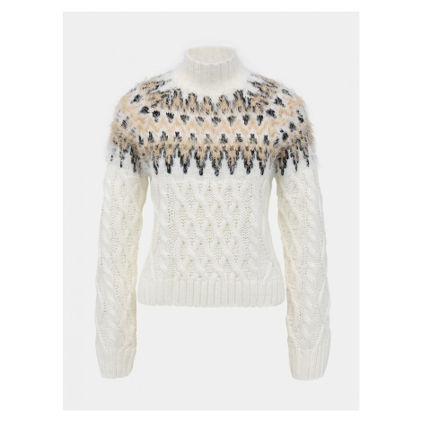 Tally WEiJL White Patterned Sweater
