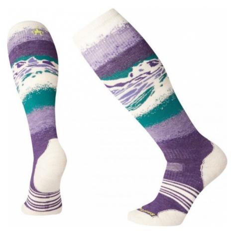 Smartwool PHD SNOW MEDIUM fialová - Dámske lyžiarske ponožky