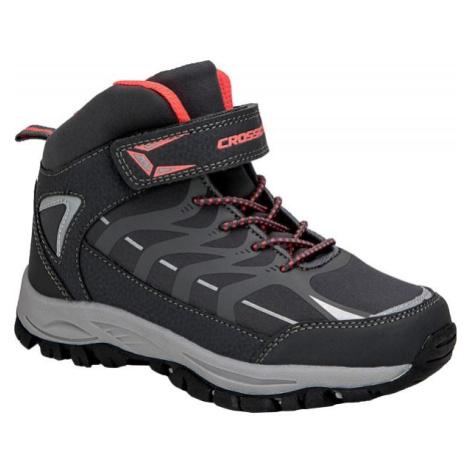 Crossroad DINEX čierna - Detská treková obuv