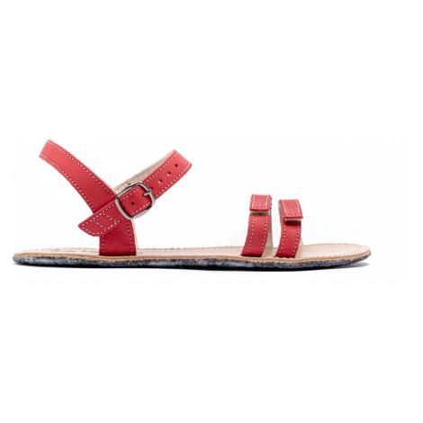 Barefoot sandále Be Lenka Summer - Red 36