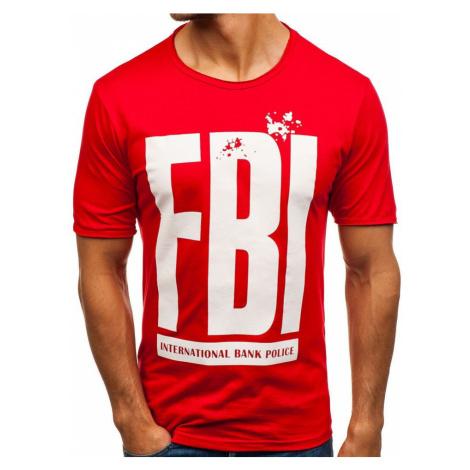Červené pánske tričko s potlačou BOLF 6295 RIPRO