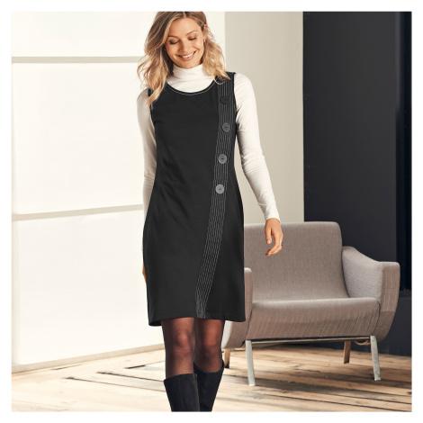 Blancheporte Šaty z Milano úpletu čierna
