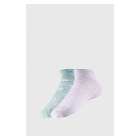 2 PACK dámskych členkových ponožiek Adreana zeleno-fialová Ysabel Mora