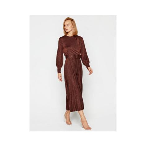Marella Koktejlové šaty Kibbutz 36260208 Hnedá Regular Fit