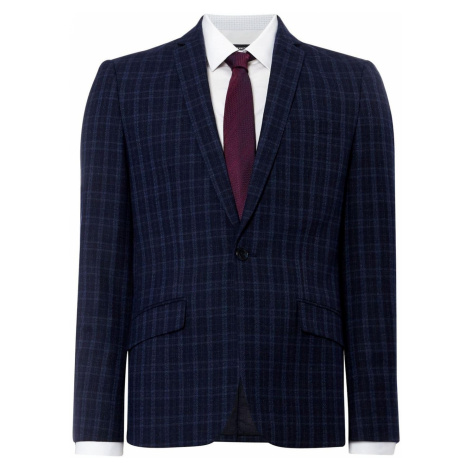 Kenneth Cole San Fran Slim Fit Tonal Checked Suit Jacket