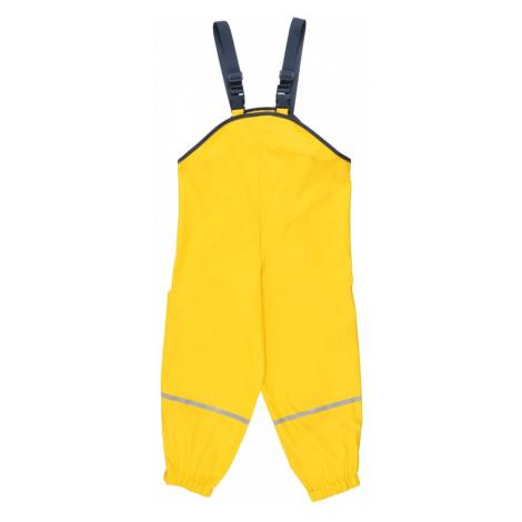 PLAYSHOES Funkčné nohavice  neónovo žltá / námornícka modrá / svetlosivá