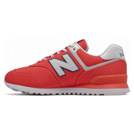 New Balance ML574SOL červená - Pánska voľnočasová obuv