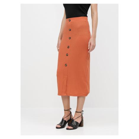Tehlová puzdrová sukňa TALLY WEiJL